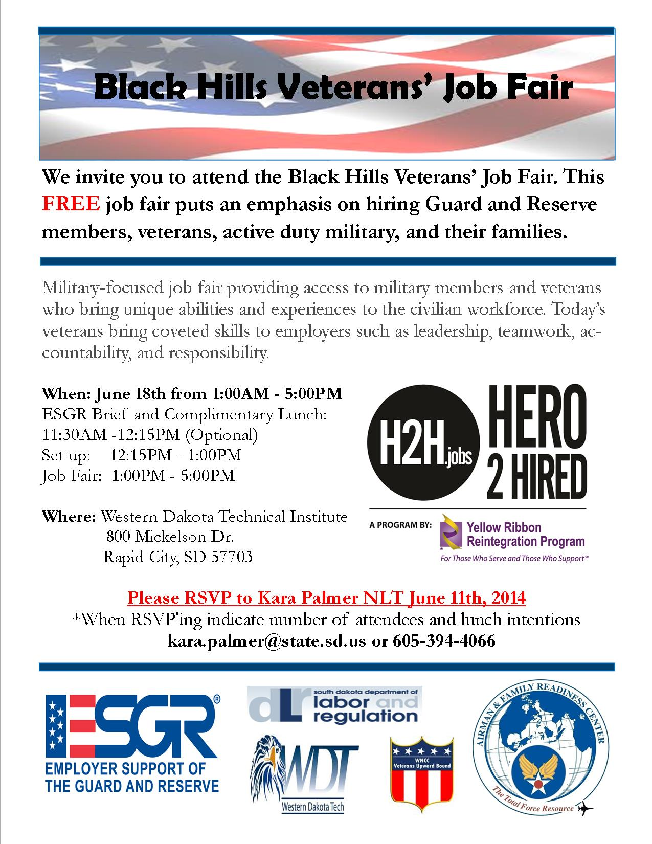 Seeking Employers For Black Hills Veterans Job Fair 18