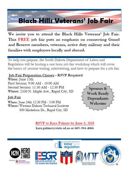 Black Hills Veterans Job Fair