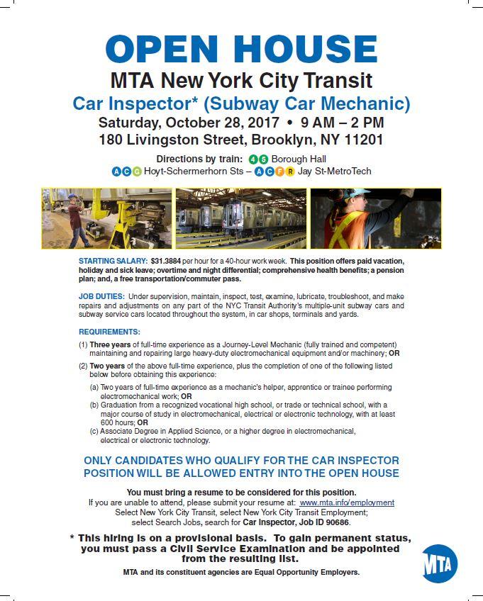 mta new york transit car inspector brooklyn ny jobs 4 ellsworth